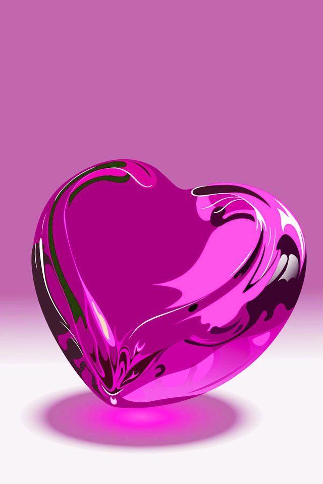 Purple Heart Frases De Amor Pinterest Corazones Turquesa Y