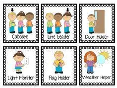 Job pocket labels kindergarten chartpreschool also free preschool chart pictures water patrol caboose rh pinterest