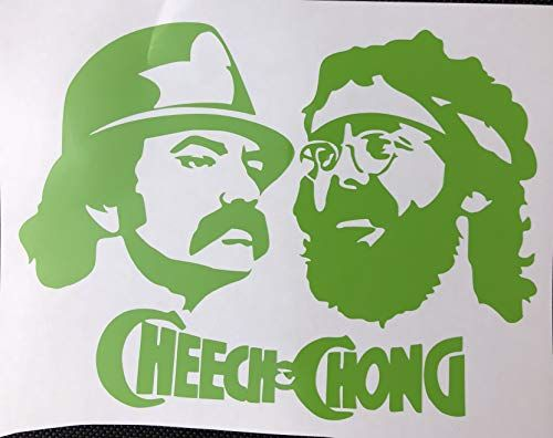 Cheech & Chong Green Vinyl Decal New Gift Old Crows Treas