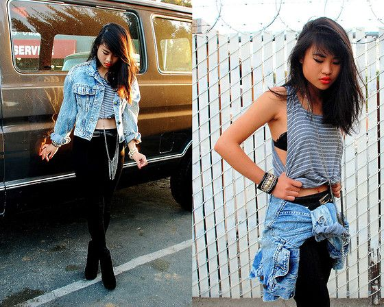 Punched Studs & Dripping Chains (by Natalie Liao) http://lookbook.nu/look/2579269-Punched-Studs-Dripping-Chains