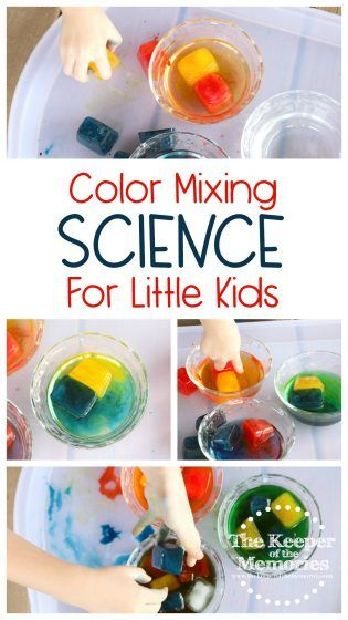 Keep your little kids cool this summer and explore color mixing with this fun Art Studio Preschool Monthly Theme Color Mixing Science & Nature STEAM Investigation Station. This awesome STEAM Station combines a creative sensory activity with a classic science experiment. You're definitely going to want to check it out!#STEAM #kidsactivities #science #preschoolthemes #art #colormixing