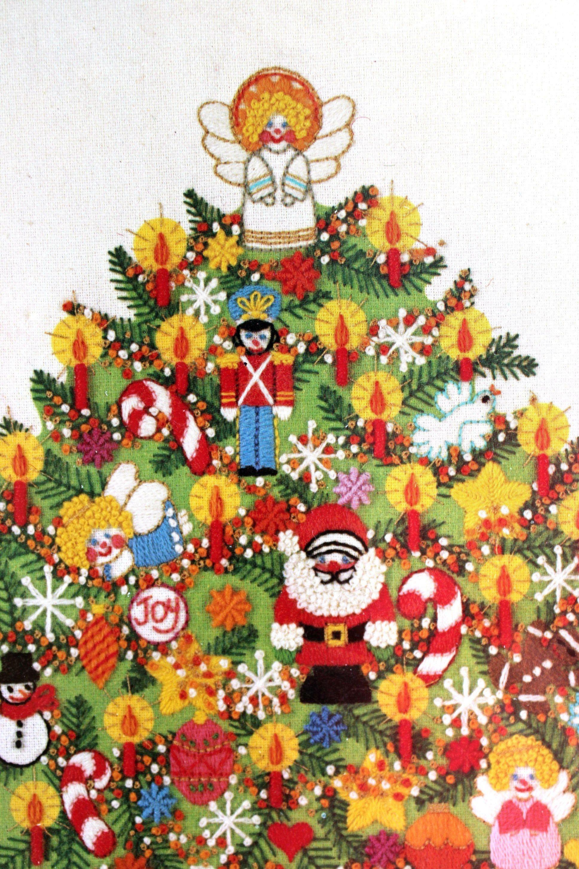 Sunset Crewel Embroidery Kit Christmas Tree Fantasy 2070 Chris Etsy In 2020 Embroidery Kits Crewel Embroidery Crewel Embroidery Kits