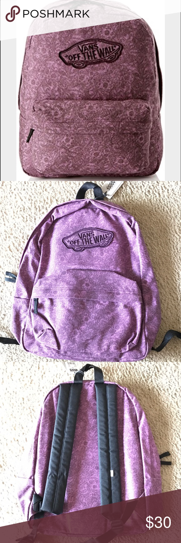 Vans Realm Purple Backpack New with tags. Vans Bags Backpacks
