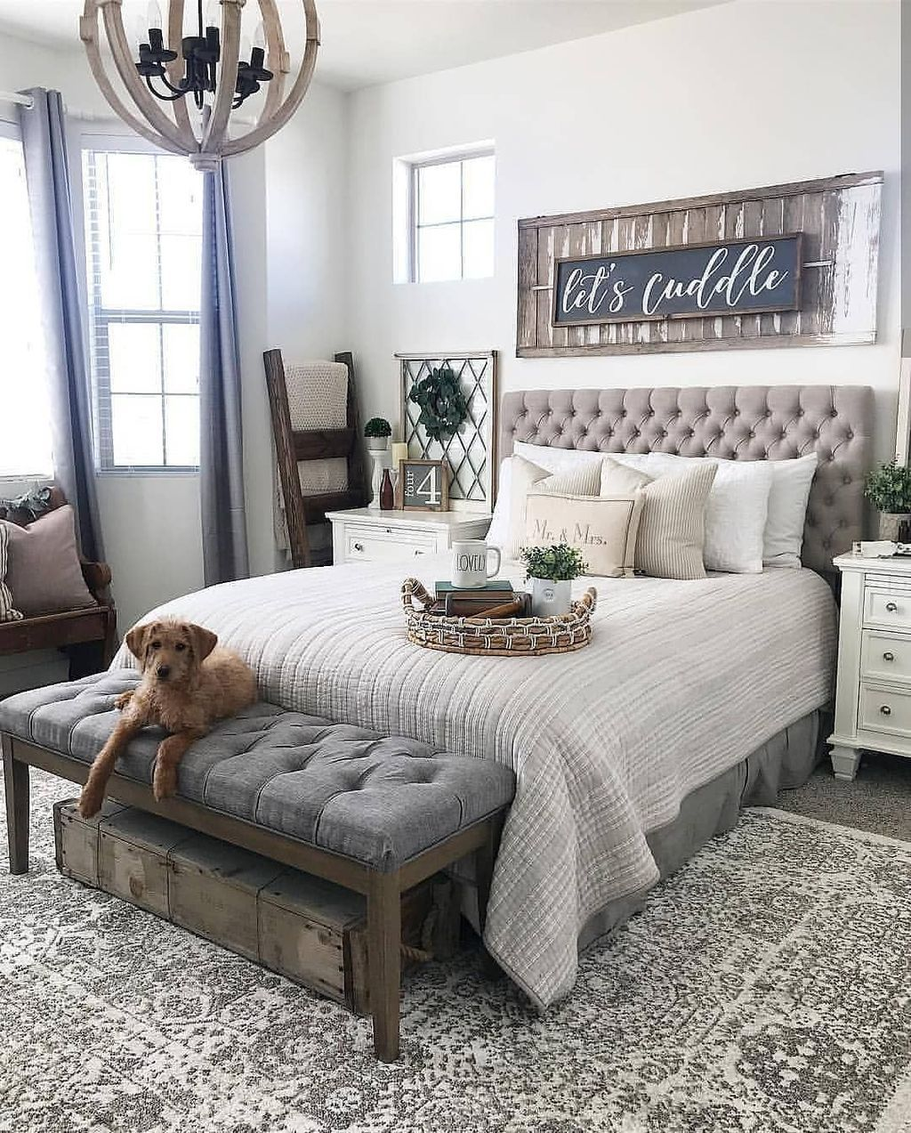 38 Fabulous Modern Farmhouse Bedroom Decorating Ideas ...