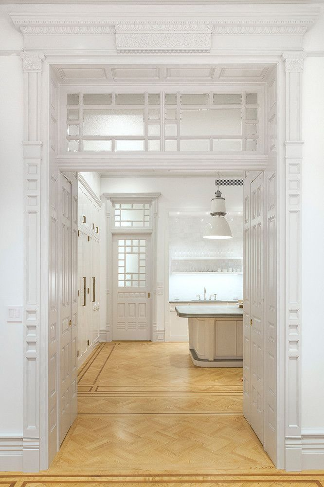 Wood Door Surrounds Cabinetry And Transoms Kitchen Interior