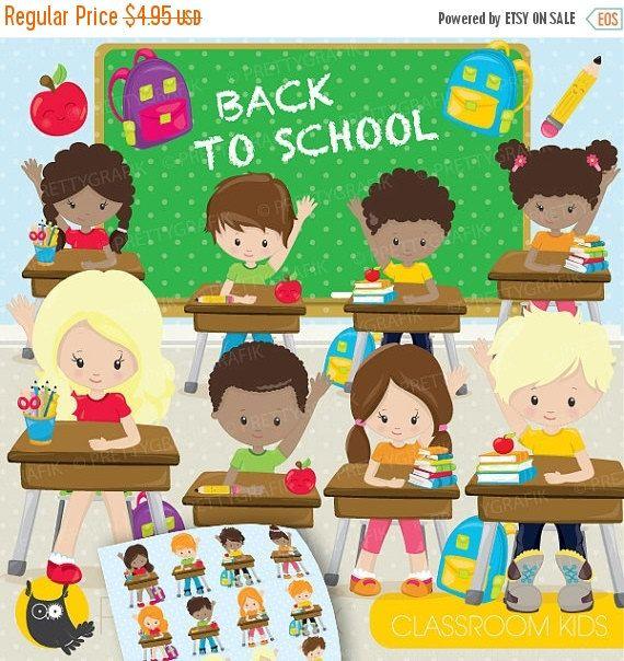 80 off sale classroom kids school clipart clipart commercial use rh pinterest com digital clock clipart for teachers Teacher Reading Clip Art