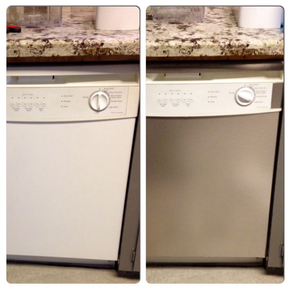 Beforeafter faux stainless steel adhesive save money and