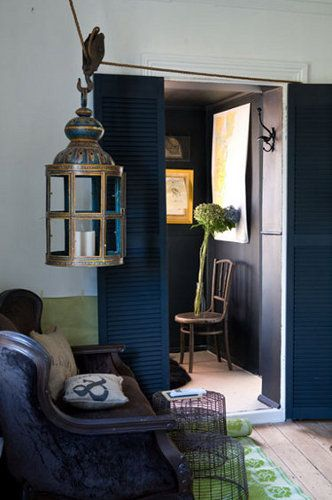 love this color scheme -  midnight blue and lime green