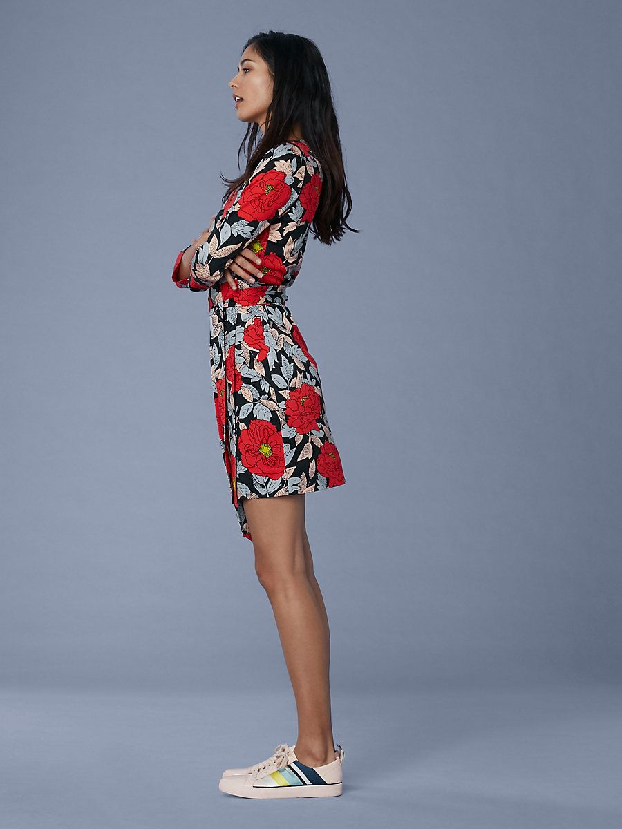 5b058cca5e8d ... DVF Wish List by Eugene Sokolovski. Julian Silk Jersey Mini Wrap Dress