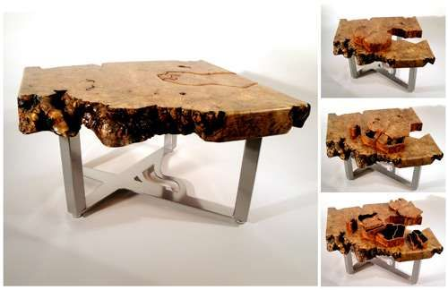 Wood Table Furniture Secret Compartments Scott Dworkin