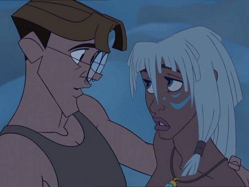 Milo And Kida From Atlantis The Lost Empire Setting 1914 America Based On The Legend Of The Underwater City At With Images Milo And Kida Kida Atlantis Princess Kida