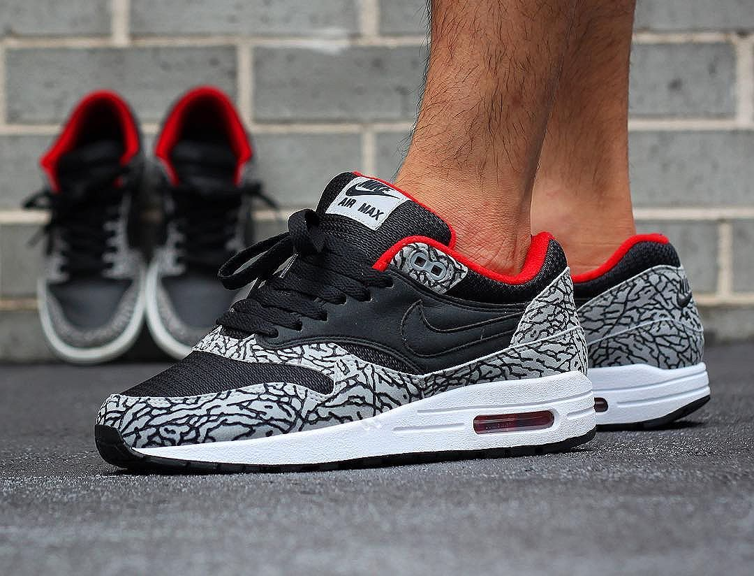 buy popular 4f884 df831 Nike Air Max 1 ID Supreme Cement -  chonkerez