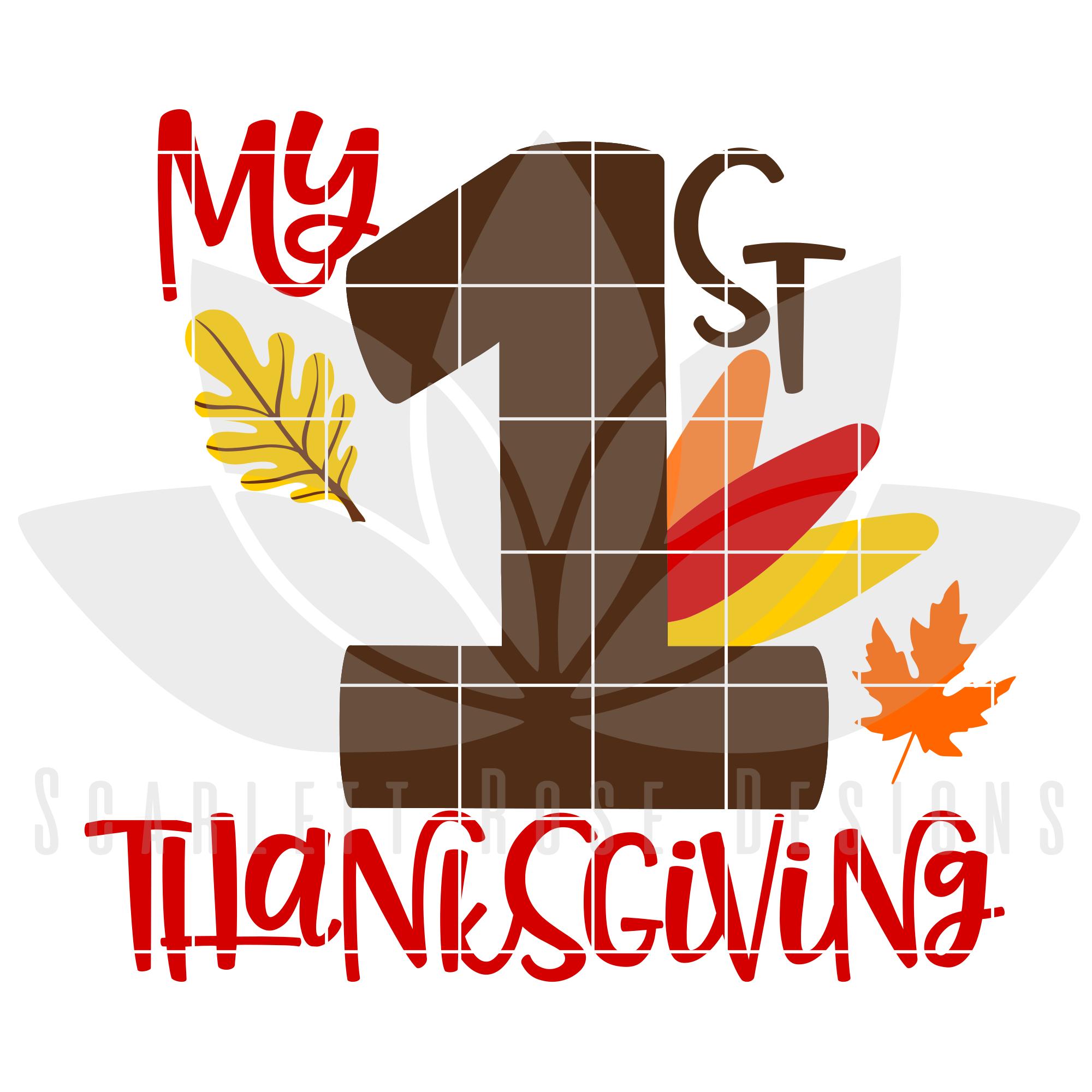 My First Thanksgiving SVG Anaya y Arte