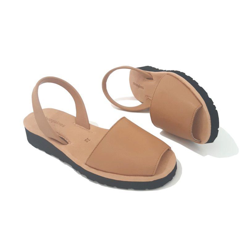 SANDALE Cuir Compense Naturel MINORQUINES   Sandales cuir