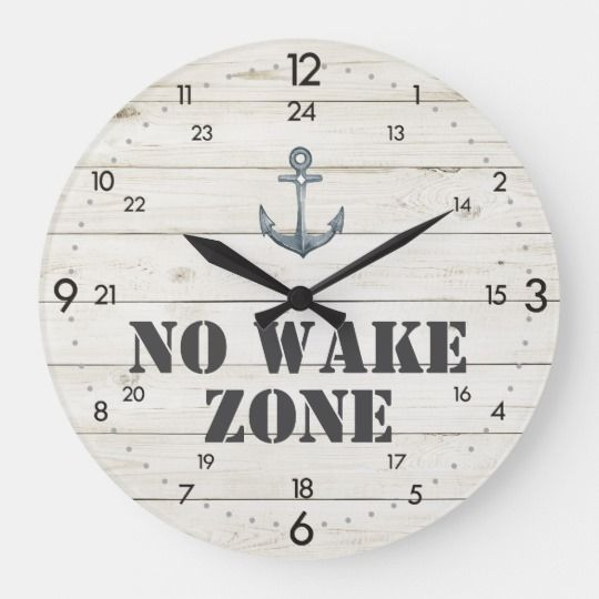 Photo of No Wake Zone Nautical Clock Anchor + 24-Hour Time