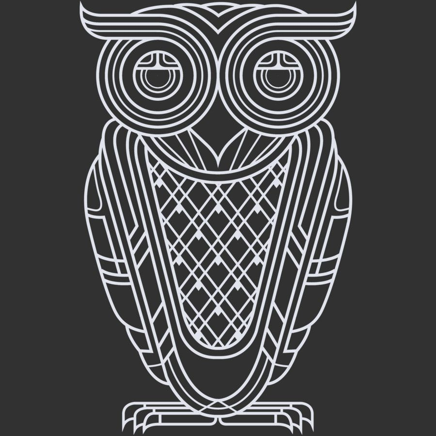 Art Deco Owl (Nocturnal) T Shirt By Qetza Design By Humans ...