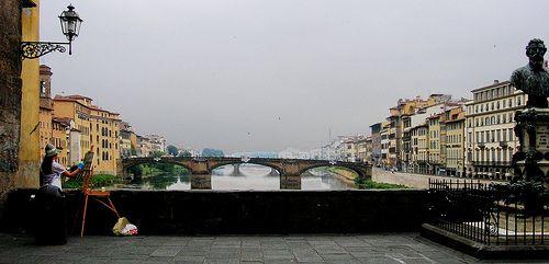 Pittrice su Ponte Vecchio by zadig33, via Flickr