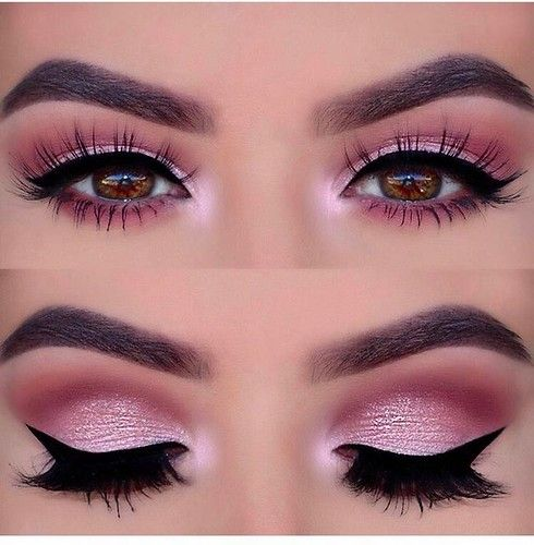 Photo of Hot pink eye makeup