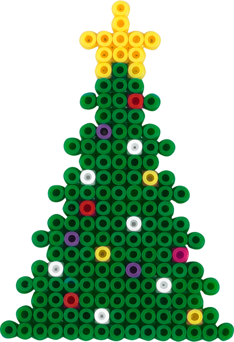 Christmas Tree Hama Beads Zwischenarbeiten Pinterest