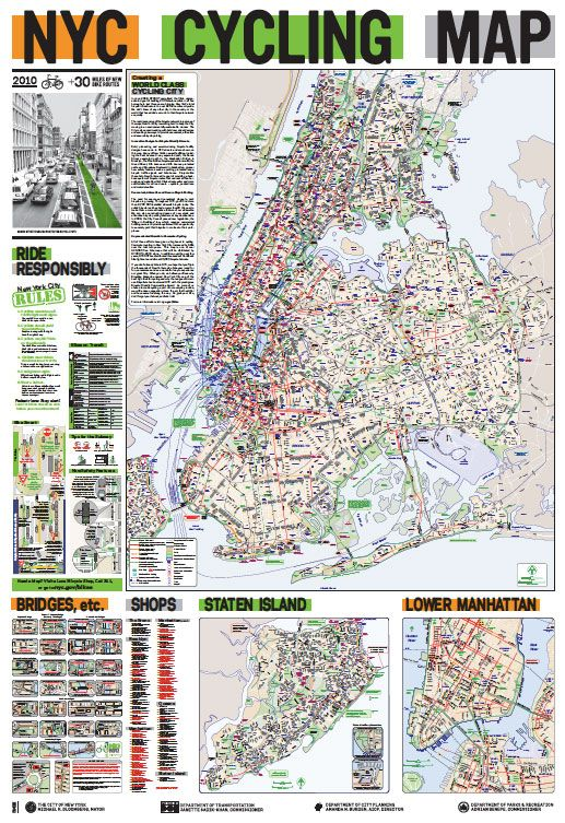 NYC Cycling Map | Bike route design