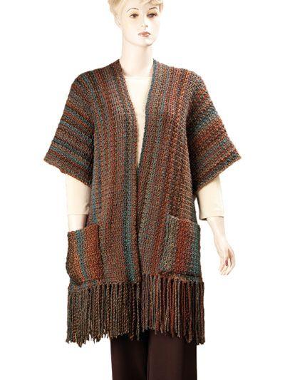 Indian Summer Ruana Crochet Pattern Pack - don\'t care for the fringe ...