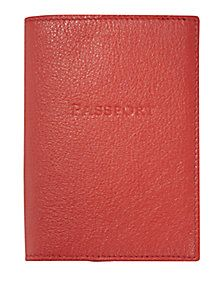 Graphic Image - Leather Passport Cover