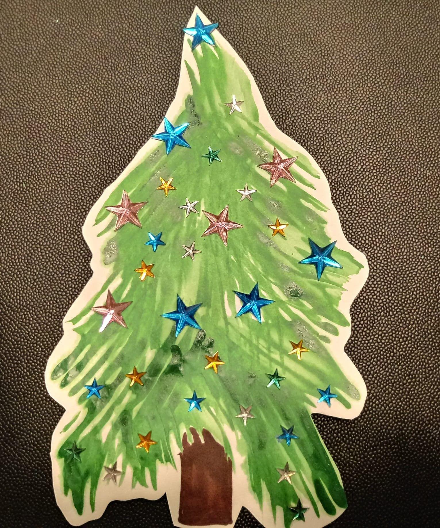 Kerstboom Verven Met Vork Kerst Kerstboom Verven Met Vork 1062