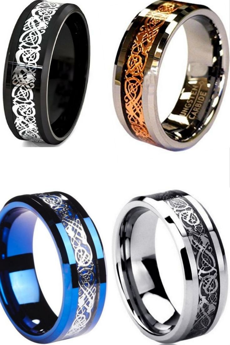 Mens Tungsten Carbide Celtic Rings These Are Such Beautiful Celtic Rings They Make Great Wedding Bands O Rings For Men Mens Celtic Wedding Bands Celtic Rings