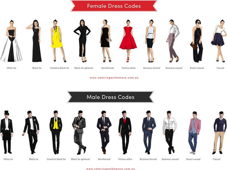 dress codes black tie casual smart