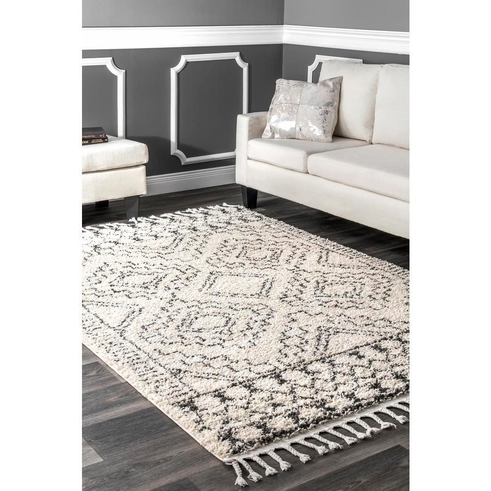 Nuloom Vasiliki Moroccan Tassel Shag Off White 7 Ft X 9 Ft Area Rug Gcdi02a 6709 The Home Depot In 2020 Rugs In Living Room Farm House Living Room Rugs Usa