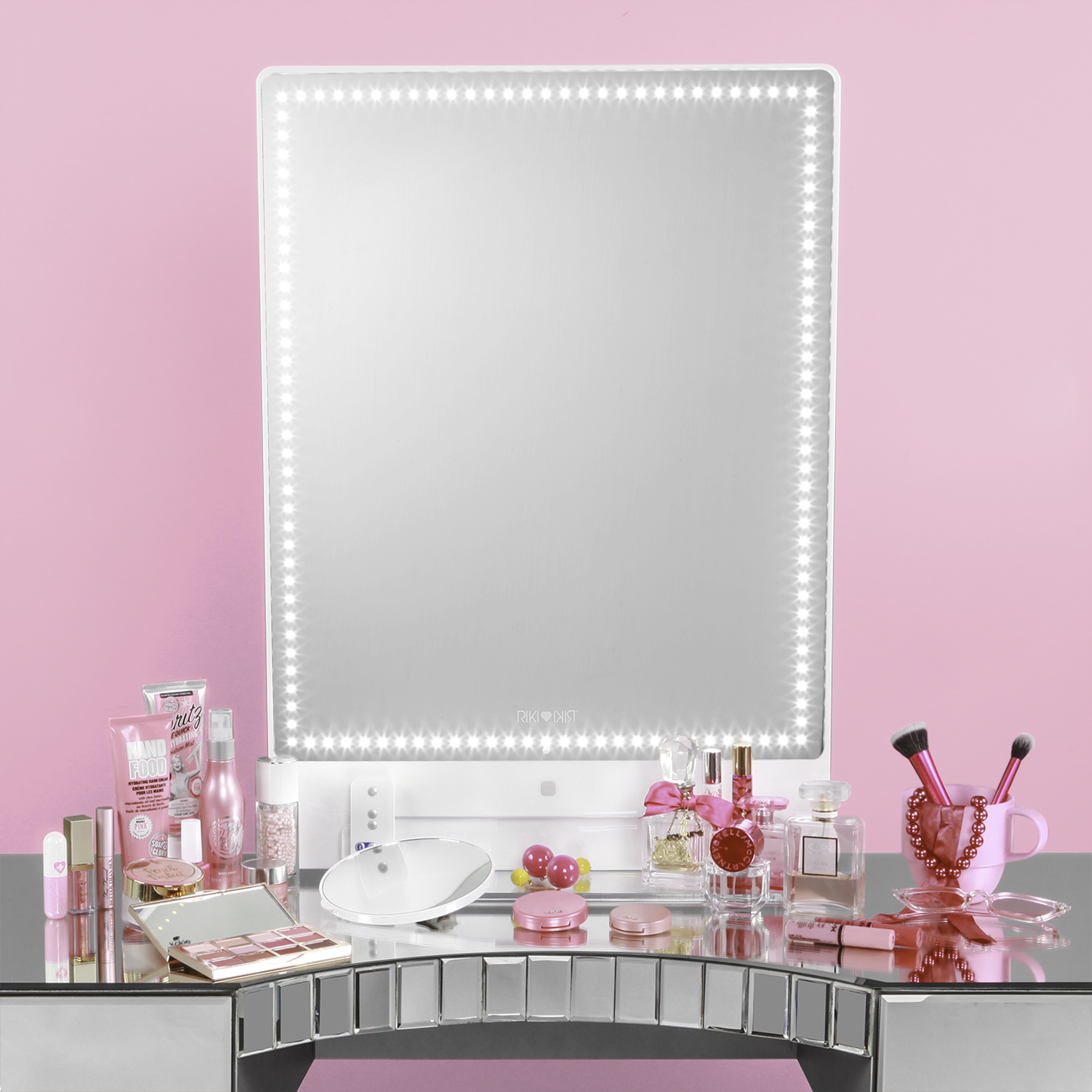 Riki Tall Riki Mirror Makeup Mirror With Lights Vanity Mirror