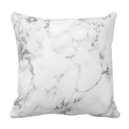White Silver Gray Carra Marble Stone Abstract Throw Pillow Zazzle Com Abstract Throw Pillow Marble Stones Throw Pillows