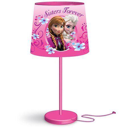 disney frozen anna and elsa stick table lamp walmart com h