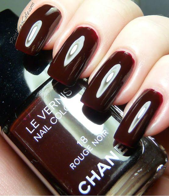 Chanel Paradisio Nail Polish Swatches - Blushing Noir