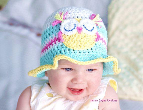 Crochet Hat Pattern Fun In The Sun Baby Hat Pattern Baby Owl Sizes