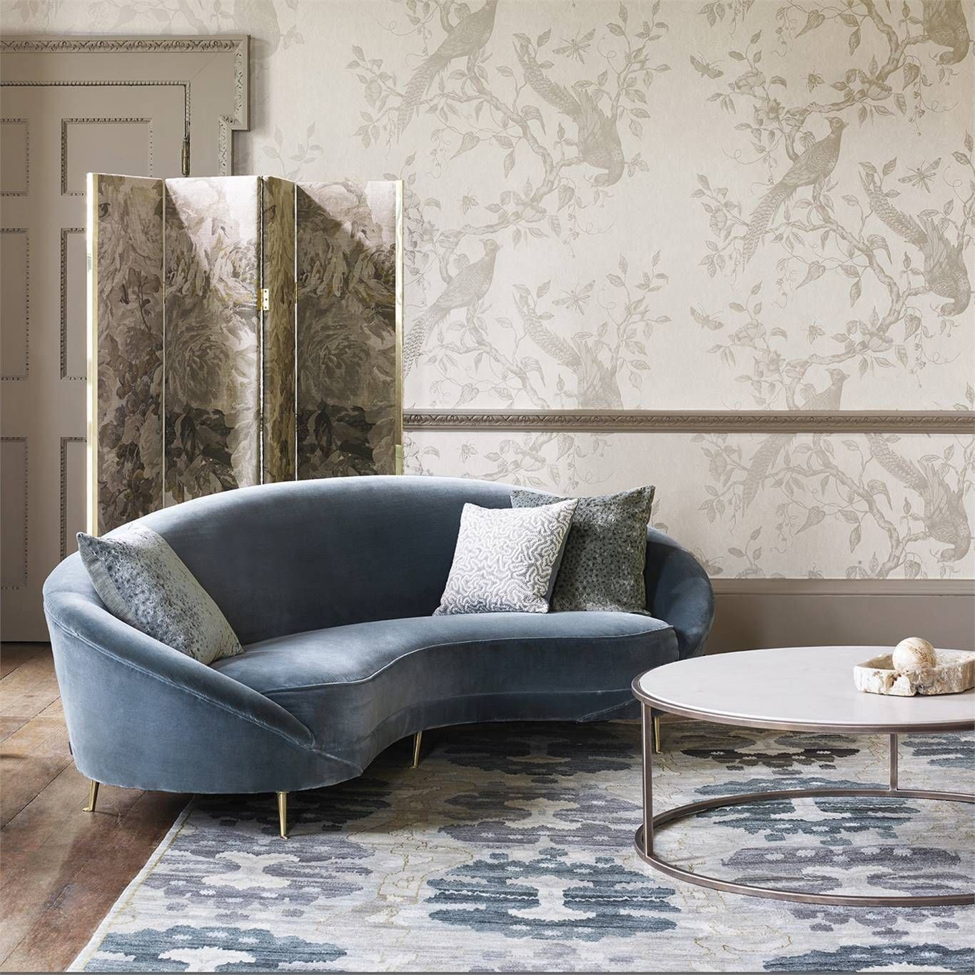 Zoffany Darnley Snow Wallpaper 312848 Country house