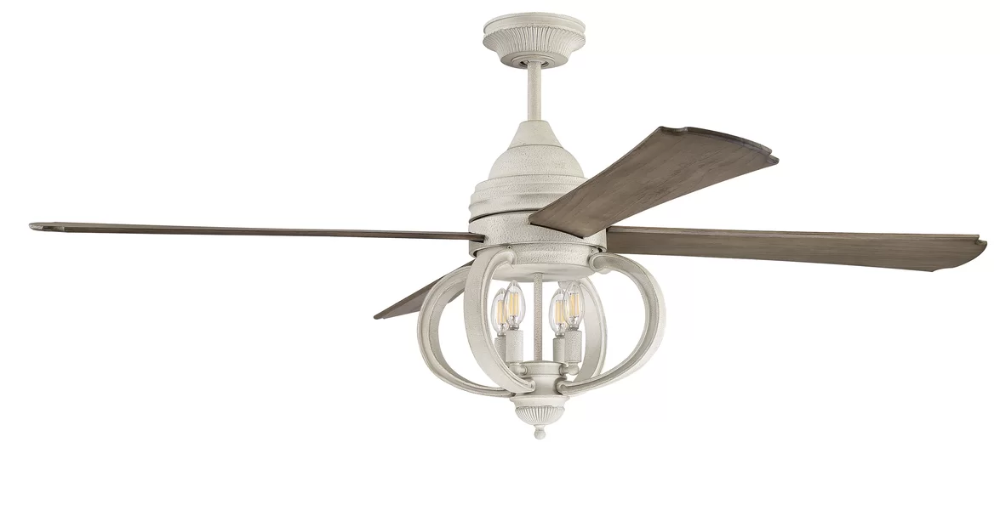 One Allium Way 60 Kali 4 Blade Standard Ceiling Fan With Remote Control And Light Kit Included Wayfair Ceiling Fan With Remote Ceiling Fan Led Ceiling Fan