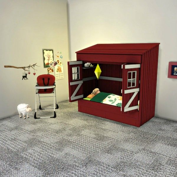 Leo 4 Sims Toddler House Bed O Sims 4 Downloads