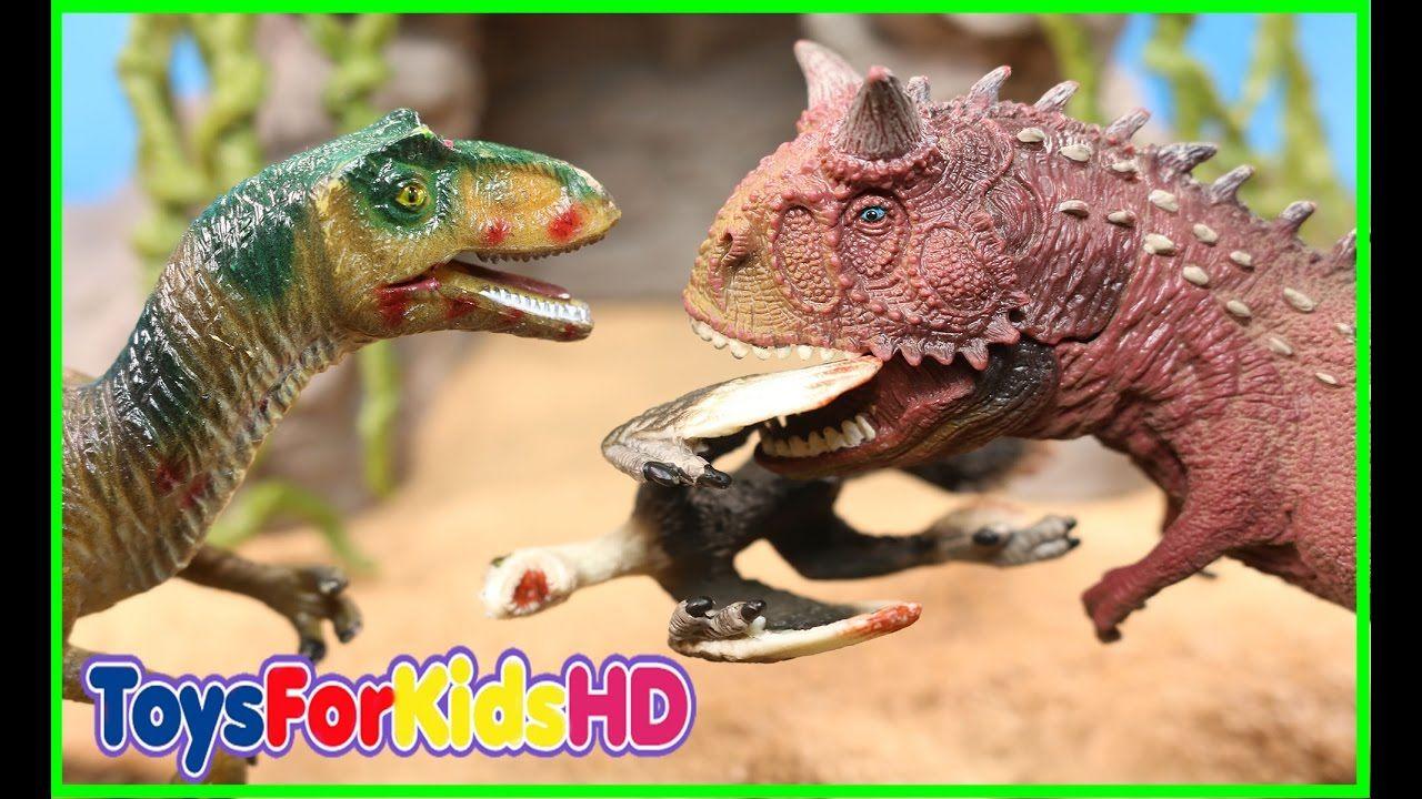 Videos de Dinosaurios para niños Carnotauro v/s Allosaurio - Dinosaurios de Juguete ToysForKidsHD
