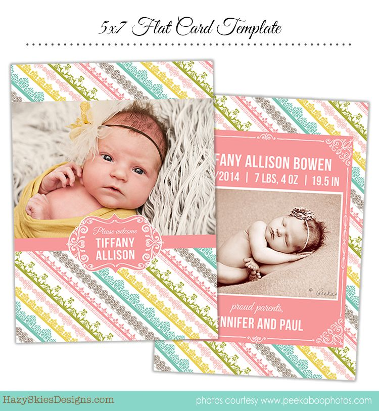Birth Announcement Template for Photographers #birth announcement - birth announcement template