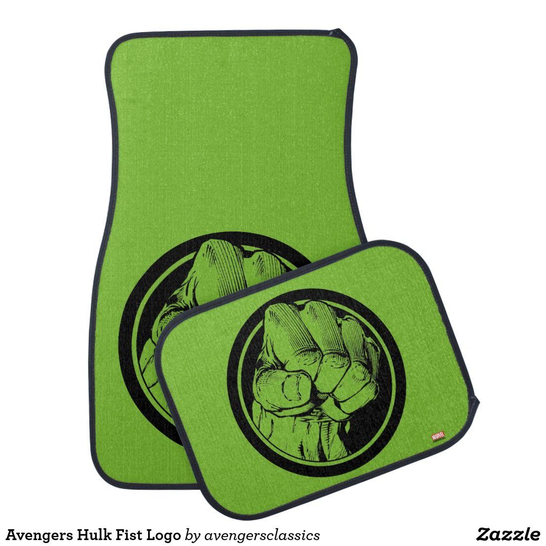 Avengers Hulk Fist Logo Car Floor Mat The Avengers Classic Pinterest