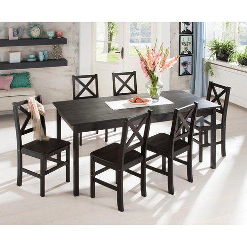 table salle manger rectangulaire de 4 6 ou 8 personnes en pin massif 3