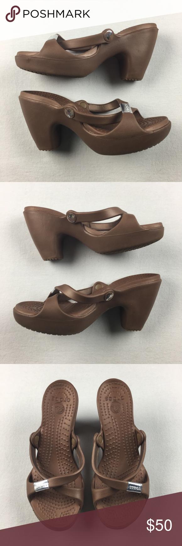Crocs Cyprus Wmns 6 Heel Strappy Sandals