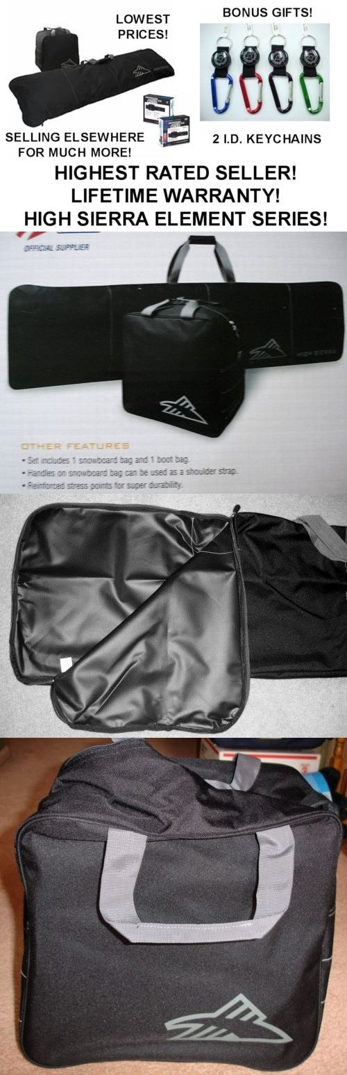 804d7276bd58 Bags and Backpacks 21229  New High Sierra Snowboard Bag And Boot Bag-Combo-Black- 60+V+Bonus  Gifts! -  BUY IT NOW ONLY   34.49 on  eBay  backpacks  sierra   ...