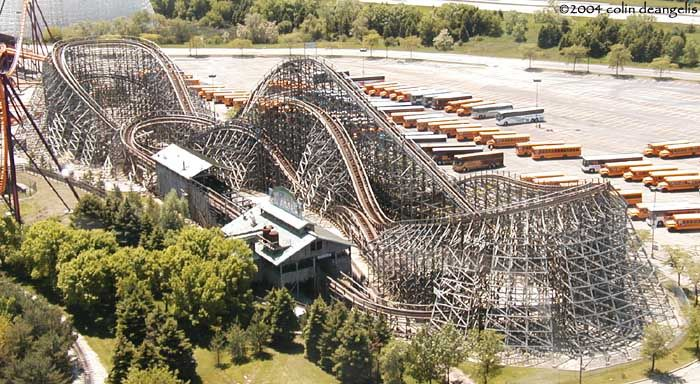 Viper Photo From Six Flags Great America Coasterbuzz Great America Roller Coaster Thrill Ride