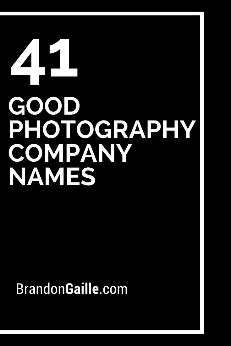 catchy photography business names