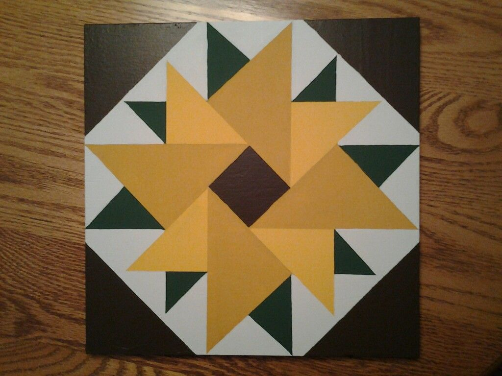6 Sunflower Painted Barn Quilts Barn Quilt Patterns Barn Quilt Designs