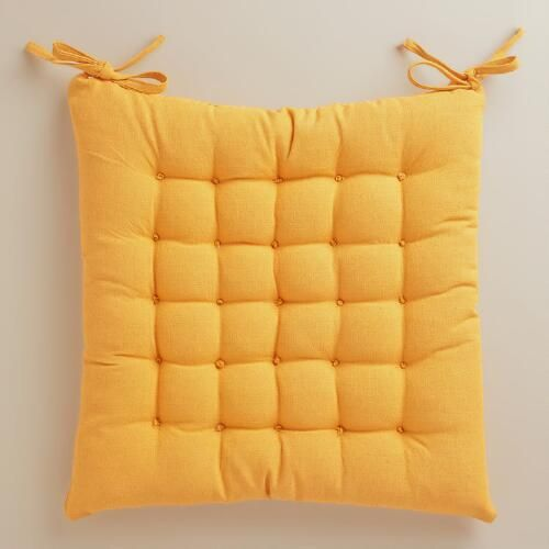 One of my favorite discoveries at WorldMarket.com: Golden Yellow Dasutti Chair Cushion