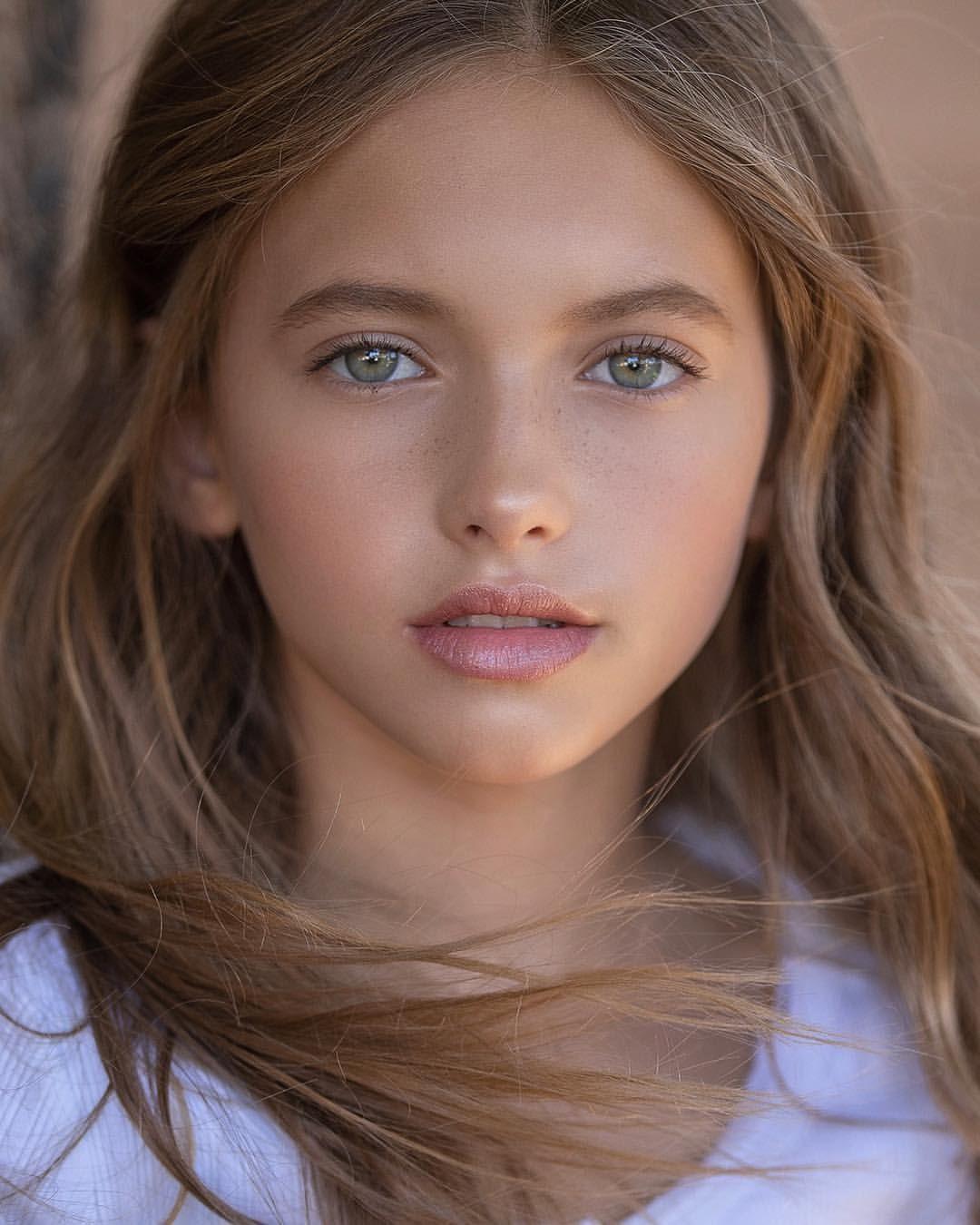 Young brunette teen model