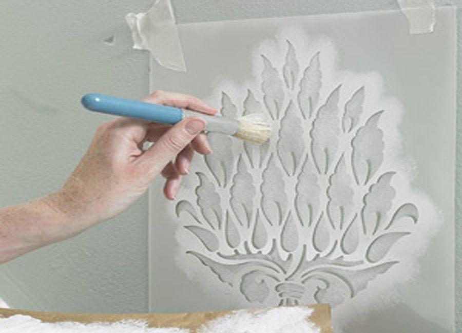 T cnicas para pintar paredes muebles decoracion - Como pintar una pared con textura ...